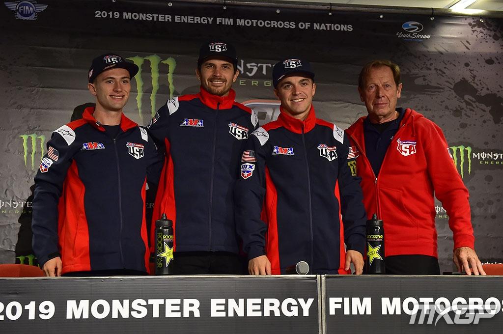 Equipo EEUU MXoN 2019: Justin Cooper, Anderson, Osborne y de Coster (MXGP).